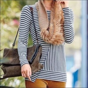 Cabi Long Sleeve Ernest Striped Tee Small 3228